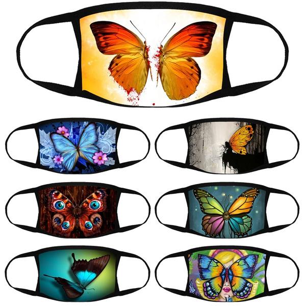 butterfly, Colorful, butterflyprintedmask, unisex