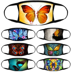 butterfly, Colorful, butterflyprintedmask, unisex