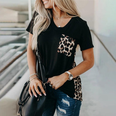 Summer, Plus Size, pockettshirt, leopard print