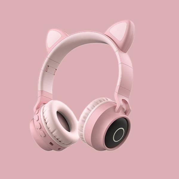 Cat Ear Headset Bluetooth Headset Wireless Luminous Headset Computer Gaming Headset Fm Radio Pluggable Tf Memory Card Headset Wish