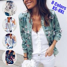 casual coat, ladiescoat, floraljacket, Fashion