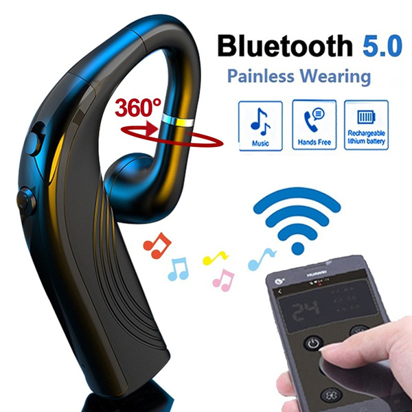 Business Wireless Bluetooth Earhook Headset Waterproof Sport Bluetooth Headphones Long Standby In Ear Earphone With Microphone For Ios Android Smartphone Handfree Calling Earbuds Wish