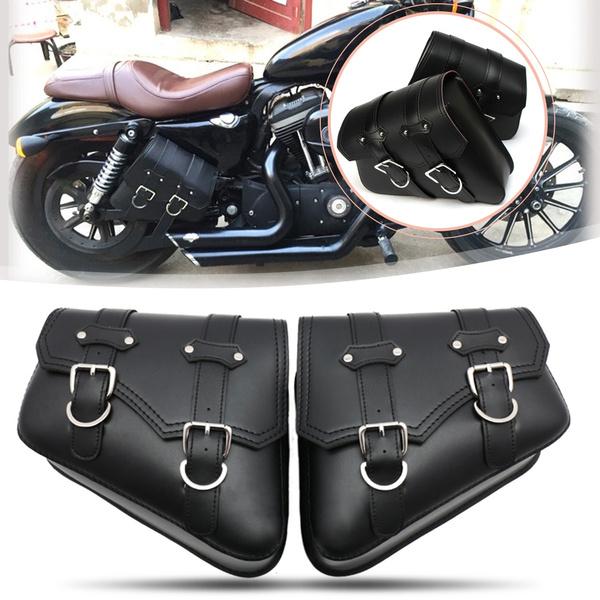 Universal PU Leather Saddle Bags Motorcycle Saddlebag Side Storage Tool Bag