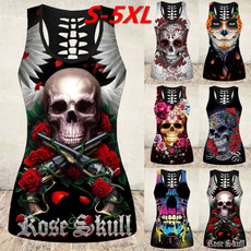 Summer, Goth, Fashion, skullprint
