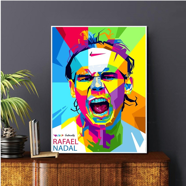 Canvas Painting Gift Rafael Nadal Top Tennis Player Sports Star Poster Prints Wall Art Canvas Oil Painting Picture Living Home Room Decor No Frame Wish