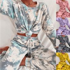 casualsuitwomen, Fashion, tiedyesetwomen, Sleeve