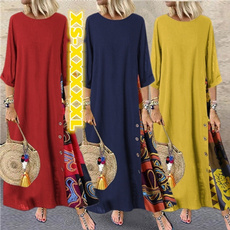 Plus Size, Sleeve, long dress, платья