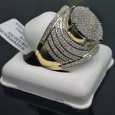 DIAMOND, 925 sterling silver, gold, Sterling Silver Ring