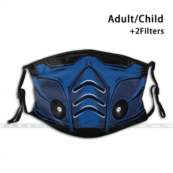 Mortal Kombat Sub Zero Mask 3d Print Reusable Mouth Mask