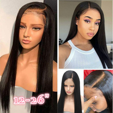 Black wig, Synthetic Lace Front Wigs, deeppart, human hair