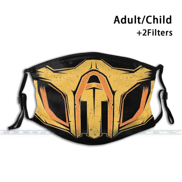 Mortal Kombat Scorpion Mask Custom Design For Adult Kids Anti Dust Filter Diy Cute Print Washable Mask Mortal Kombat Wish
