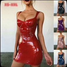 latex, Plus Size, leather, women club dress