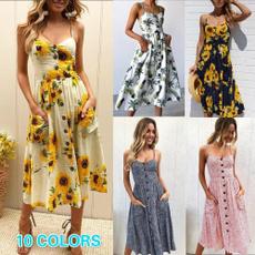 bohostripeddre, Summer, sundress, Dress