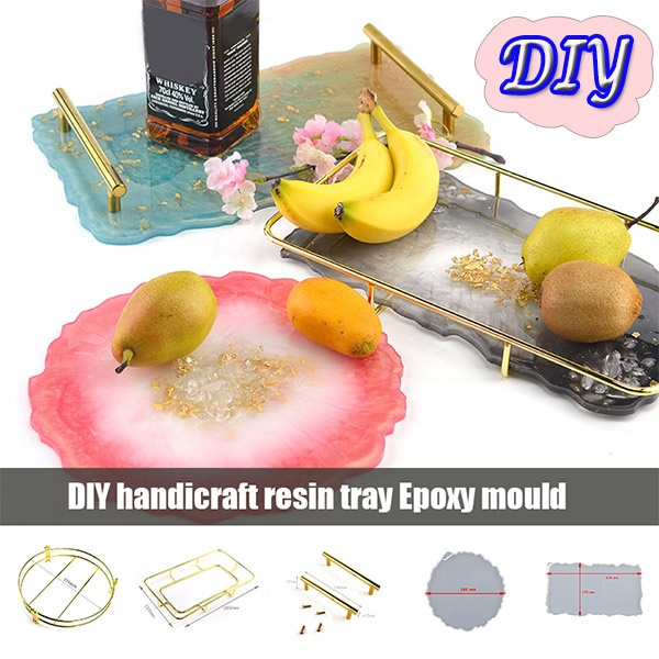Large Silicone Tray Artist Mold Irregular Coasters Resin Art DIY Tray Mould NEW