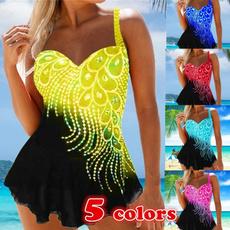 Plus Size, Swimming, Halter, beach wear