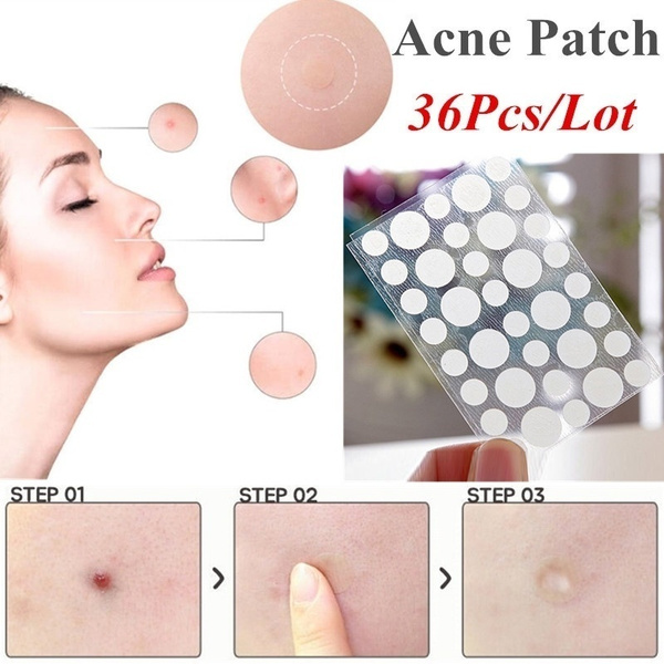 36pcs Hydrocolloid Acne Invisible Pimple Master Patch Skin Tag