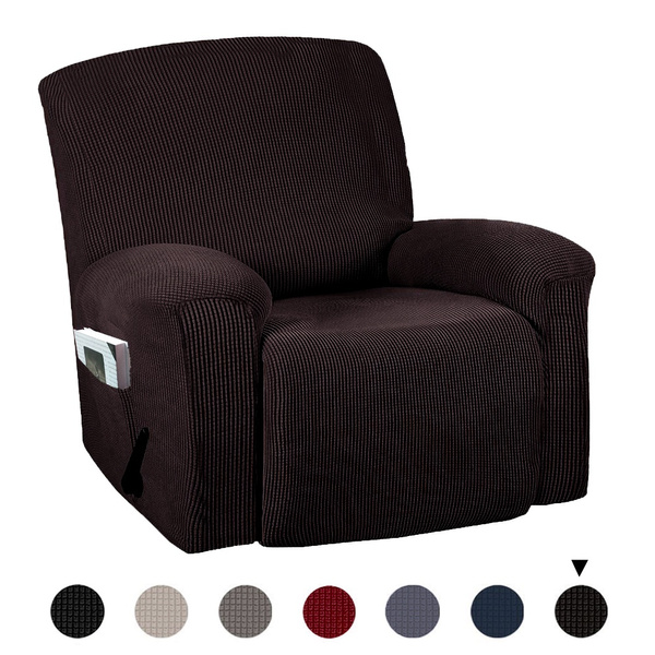 Full Coverage Stretch Recliner Chair Covers Washable Non slip Sofa Slipcovers Waterproof Seat Cover with Side Pocket | Wish
