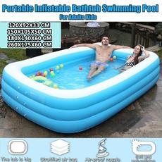 adultbathtub, Blues, Outdoor, inflatableswimmingpool