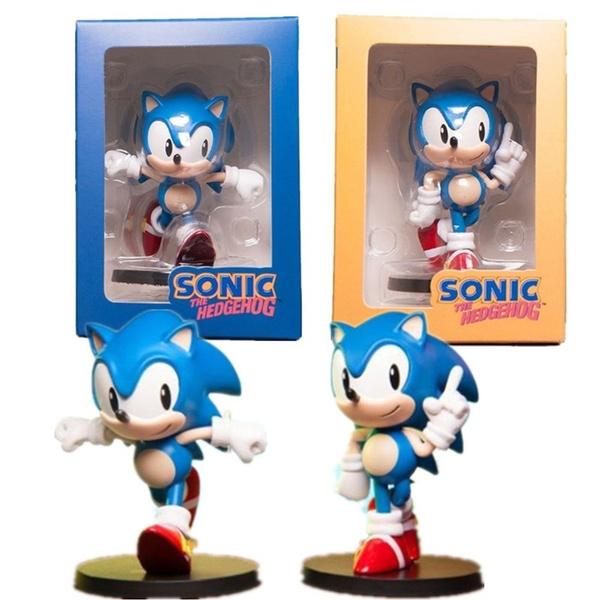 Sonic The Hedgehog 75mm Q Ver Pvc Action Figure Anime Movie Sonic The Hedgehog Figurine Game Model Toys Wish
