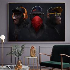 bedroomwallpicture, Decor, art, monkey