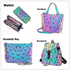 rainbow, Holographic, Cross Body, Bags