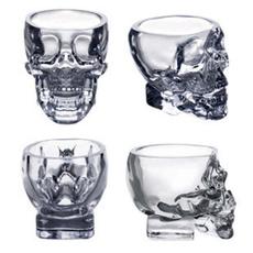 crystalgla, drinkingcup, skull, vodkagla