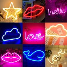 rainbow, Decor, lights, catneonsign
