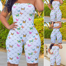 butterfly, Summer, strapless, Shorts