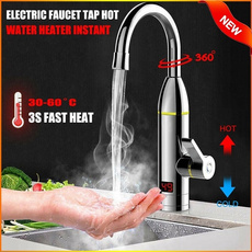 Bathroom, heatingfaucet, led, Electric