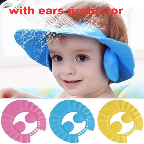 Baby Bath Shampoo Kids Adjustable Children Wash Hair Shower Hat Cap Shield