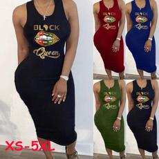 Summer, Plus Size, tankdres, Dress