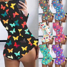 butterfly, Summer, Plus Size, shortromper