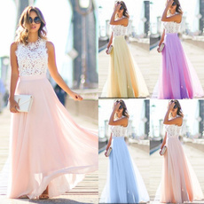 Summer, Lace, chiffon, gowns