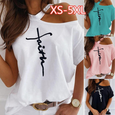 Summer, Plus Size, Shirt, Sleeve