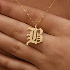 alphabetpendant, hip hop jewelry, Jewelry, Gifts