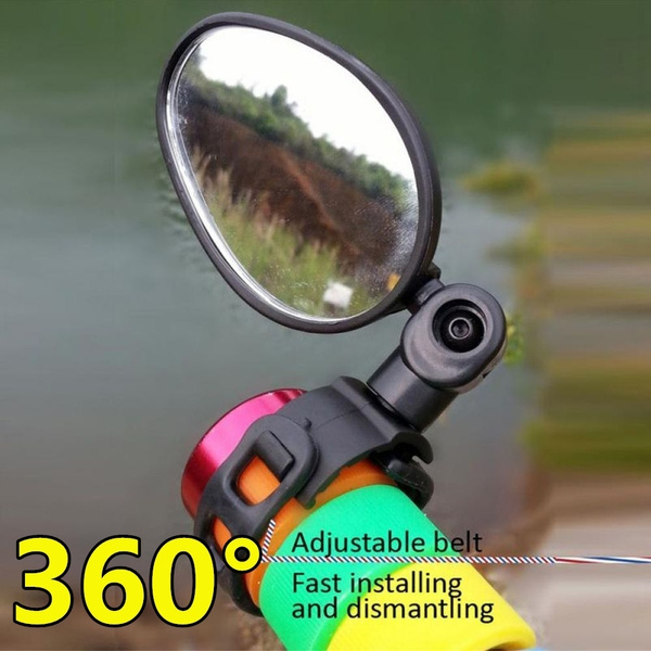 Rearview Back View Mirror for Bike Motor Bike Safety Mirror 360 Rotation Mirror