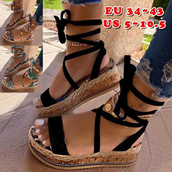 Beach Sandals Ladies Heels Shoes