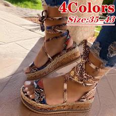 Lace Up, Summer, Plus Size, Women Sandals