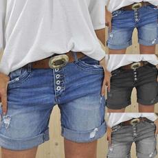Blues, Summer, Shorts, Waist