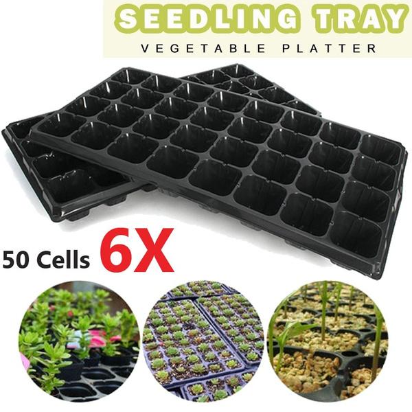 Cell Seedling Starter Trays Germination Plant Pots Nursery For Garden New