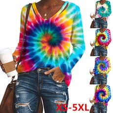 relaxedfit, Fashion, Tie Dye, Long Sleeve