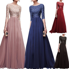 Plus Size, Encaje, long dress, plus size dress