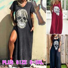 Summer, Goth, Plus Size, long dress