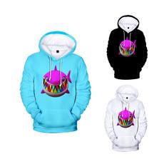 sharkprint, Fashion, pullover hoodie, rainbow