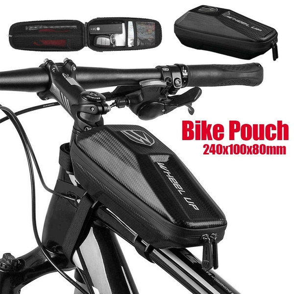 Bicycle Frame Bag Waterproof Top Tube Bag Bike Front Frame Eva Bags Case Pouch Wish