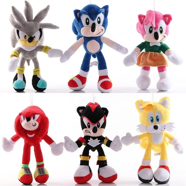 30cm New Movie Sonic The Hedgehog Shadow Knuckles And Tails Plush Doll Toy 12in Wish