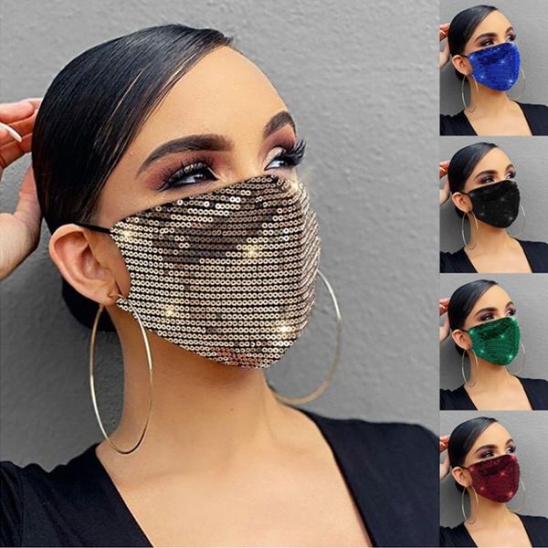 Cosplay, mouthmask, fashionmask, sequinsmask