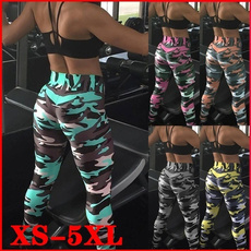 Camouflage Leggings, Plus Size, Sports & Outdoors, Fitness