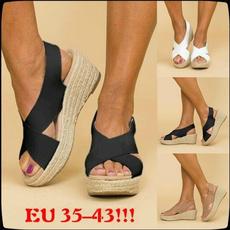 wedge, High Heel Shoe, Women Sandals, Summer