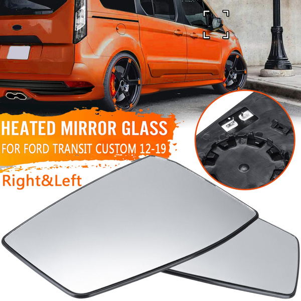 Left Right Heated Rearview Wing Mirror Glass For Ford Transit Custom 2012 2019 Wish